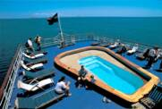 M/V Galapagos Legend Swimming pool and deck